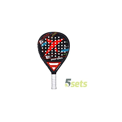 DROP SHOT Padel Conqueror 5.0 Raquette Mixte Adulte, Multicolore