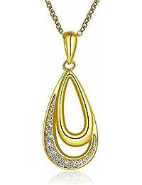2b79e96463c4 Mes-Bijoux-Bracelets Collier Pendentif Cristaux et Strass Plaqué Or Jaune  750 000