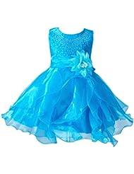ZAMME Baby Girl Floración Boda Cumpleaños Ruffle Organza vestido