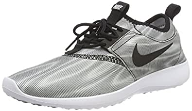 first rate 27bb6 e4657 ... Nike Women s Juvenate Print Round Toe Canvas Running Shoe, White Black-Cool  Grey - 8