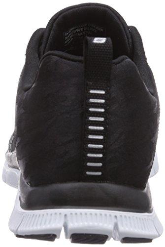 Skechers - Flex Appealclever Style, Scarpe da ginnastica Donna Nero (Nero (Bkw))