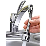 ABTRIX 360 Degrees Rotate Faucet Nozzle with Adjustable Joint Water-Saving Filter Sprayer Tap Bubbler Connector
