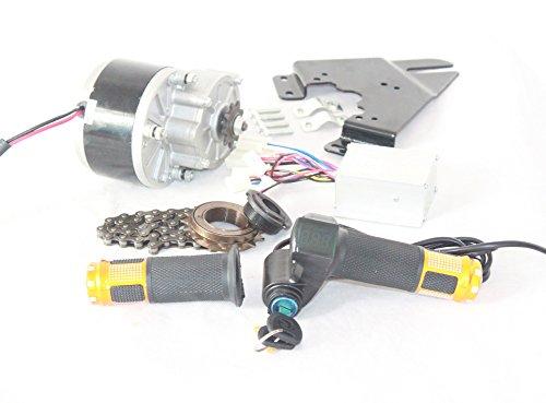 250W Elektrobürste MOTOR FÜR FAHRRAD ELECTRIC ACCELERATOR Schlüsselschalter und die Batteriespannung KIT SIMPLE MOTOR FÜR DIY E-BIKE