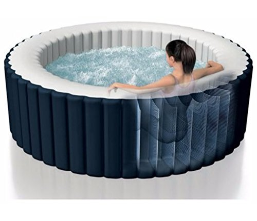 Intex - Spa gonflable Intex PureSpa rond Bulles 4 places Bleu nuit