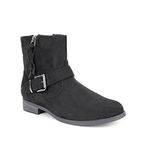 Cendriyon, Bottine feutrine noire DALIN Chaussures Femme Noir