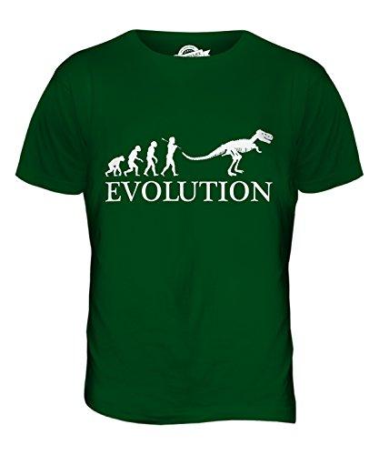 CandyMix Tyrannosaurus Rex T-Rex Evolution Des Menschen Herren T Shirt Flaschengrün