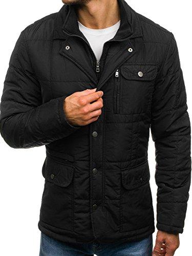 BOLF Men's Winter Coat Single Breasted Elegant Epaulets MIX [4D4]