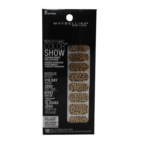 MAYBELLINE COLOR SHOW FASHION PRINTS NAIL STICKERS #30 ON THE PROWL