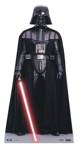 Wars Darth Vader 195cm hoch Aufsteller Standup Figur Kinoaufsteller Pappfigur Cardboard Lebensgroß Life-Size Standup (Darth Vader Pappaufsteller)