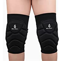 WOLFBIKE Bysor (TM)-2 pezzi-Ginocchiere da pallavolo sci da portiere di calcio, sport estremi, protezione ginocchio per ginocchia per