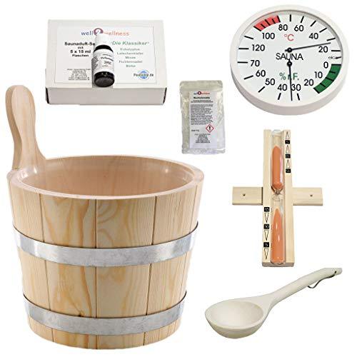 SudoreWell® Sauna Starter Set 1 / Saunazubehör Set 1-7-teilig