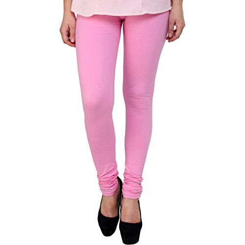 RM SALE Women\'s Baby Pink cotton Full Length Legging (Size - Large)