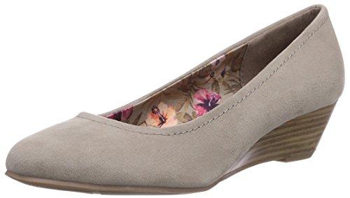 Marco Tozzi 22302, Chaussures à talons - Avant du pieds couvert femme Gris - Grau (Taupe / 341)