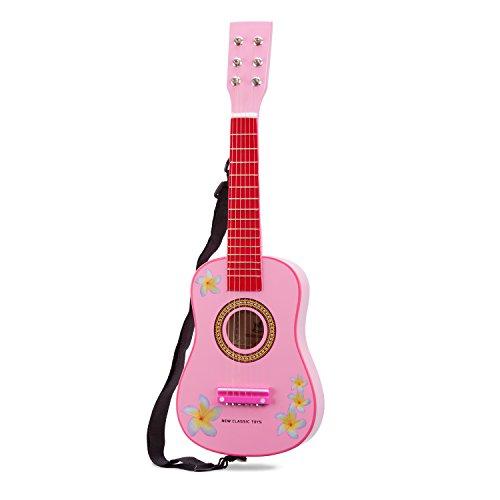 New Classic Toys - Musikinstrument - Gitarre, rosa mit Blumen