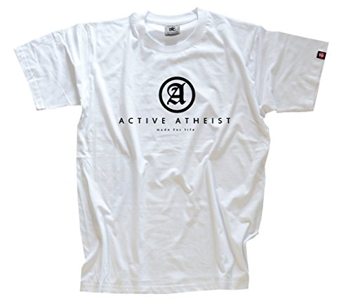Shirtzshop Herren Activ Atheist-Made for Life T-Shirt XXL, Weiß
