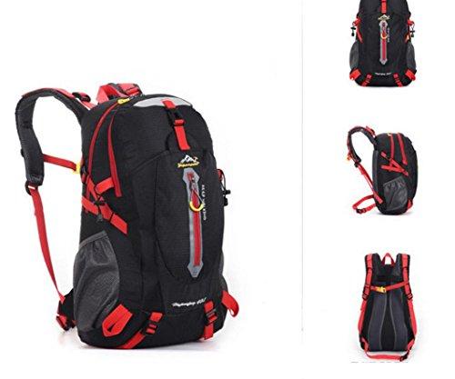 ROBAG Outdoor-Bergsteigen Tasche Rucksack große Tasche für Männer und Frauen 50L Mehrzweck wasserdichten Rucksack Wanderrucksack black