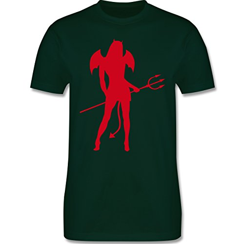 Halloween - Sexy Teuflin - Herren Premium T-Shirt Dunkelgrün
