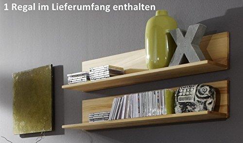Möbel Roslev A / S Wandregal Wandboard CD Regal Hängeregal Kernbuche massive gewachst