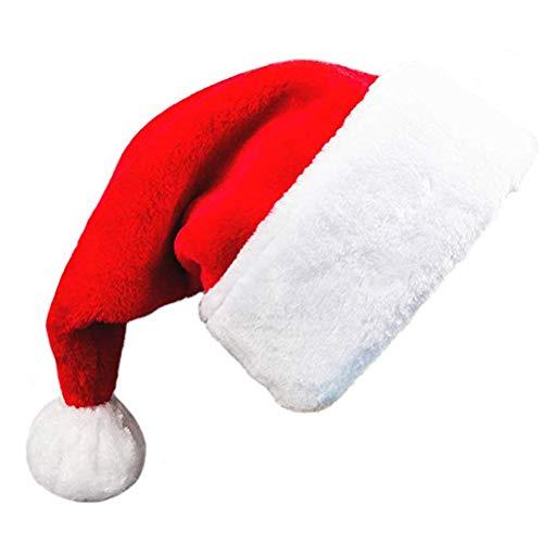 Enfei Weihnachten Vlies-Hut für Kinder und Erwachsene Big Ball Dekorationen Dicke alte Mann Cap Kostüm Anzug anziehen