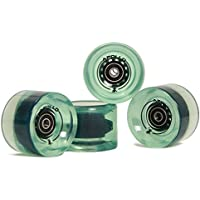 Apollo Profi Longboard Rollen, Wheel Set (4 Rollen) inkl. ABEC 7 Kugellager und Spacern, 78A/70x50 mm Wheels, in Vielen Farben