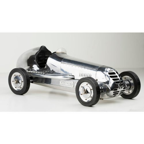 20.75 in. Length - BB Korn - 1930s Racer Replica - Silver - Authentic Models PC013R by Authentic Models -
