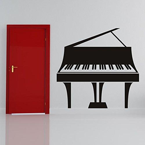 Konzertflgel-Klassischer-Jazz-Musiknoten-Instrumente-Wandsticker-Musik-Abziehbild-verfgbar-in-5-Gren-und-25-Farben-X-Gro-Wei