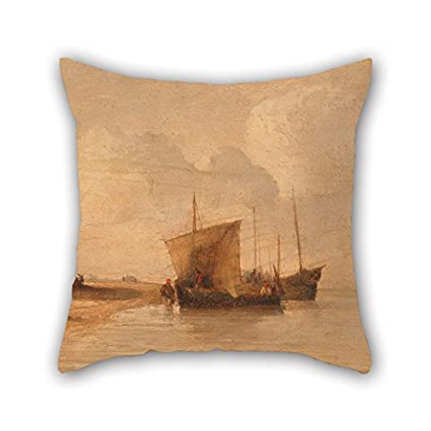 Uloveme Throw Cushion Covers 16 X 16 Inches / 40 By 40 Cm(both Sides) Nice Choice For Dining Room,teens Girls,boy Friend,son,gf,girls Oil Painting Richard Parkes Bonington - Normandy