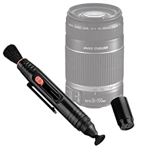 DURAGADGET Double Ended High Quality Anti-Static Lens Brush Cleaner Pen for Canon EF-S 55-250mm f/4-5.6 IS II Lens & Sigma 70-300mm f4-5.6 DG Macro for Nikon Digital & Film Cameras