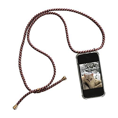 phoneline Berlin Case für das iPhone 7 & 8 Handykette in Rot/Bordeaux Handyhülle mit Band Kette Necklace Kordel Umhängen