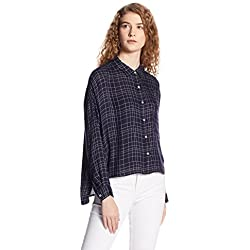 VERO MODA Women's Body Blouse Shirt (10170896_Navy Blazer_L)