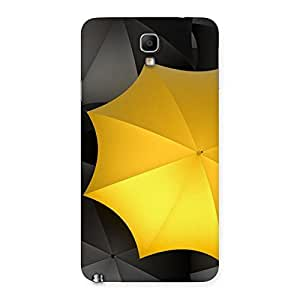 Black Yellow Umbrella Back Case Cover for Galaxy Note 3 Neo