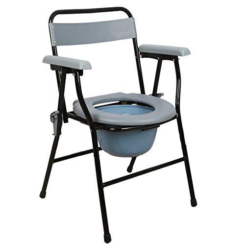 SXRL Klappbar Wc Stuhl Toilettenstuhl, Professionelle Pflege Duschstuhl Abnehmbarer Eimer