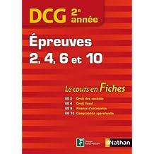 DCG 2ème année - Epreuves 2, 4, 6 et 10