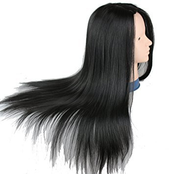 Dreambeauty Practice Heads For Hairstylist Cheap Training Head With Black Synthetic Hair For Hair Cutting Practice Only