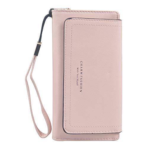 Portafoglio da donna portafoglio multiuso da donna portafoglio da polso clutch wristlet zip around portafoglio da polso organizer borsa lunga