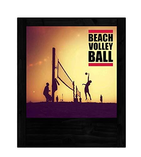 Schwarze Holzlampe Beach-Volleyball