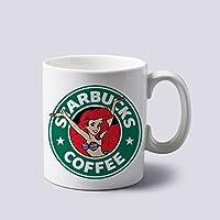 Princess Ariel Mermaid As Coffee Logo Mug