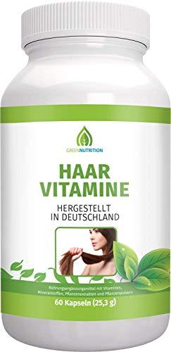 Green Nutrition - Haar Vitamine   60 Haarkapseln für Männer und Frauen