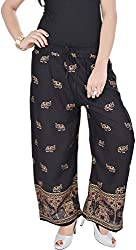 Soundarya Womens Black Cotton Palazzo (EPP8_Black)