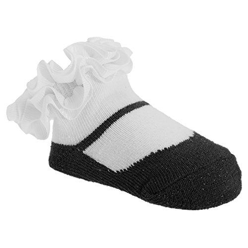 Rüschen Ballerina (Baby Mädchen Rüschen Socken Ballerina Style (1 Paar) (Einheitsgröße) (Schwarz))