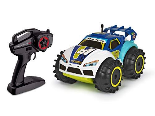 Dickie Toys 201119132 201119132-RC RC Amphy Rider, ferngesteuertes Amphibien-Fahrzeug, 2-Kanal-Funksteuerung, Allradantrieb, 360-Grad-Drehung, 20 cm, blau/weiß/gelb