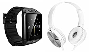 MIRZA Bluetooth DZ09 Smart Wrist Watch & Extra Extra Bass XB 450 Headphones for LG ISAI FL(Extra Extra Bass XB 450 Headphones & DZ09 Smart Watch Wrist Watch Phone with Camera & SIM Card Support Hot Fashion New Arrival Best Selling Premium Quality Lowest Price with Apps like Facebook,Whatsapp, Twitter, Sports, Health, Pedometer, Sedentary Remind & Sleep Monitoring, Better Display, Loud Speaker, Microphone, Touch Screen, Multi-Language, Compatible with Android iOS Mobile Tablet-Assorted Color)