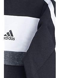 Adidas Originals–Chándal para niño, Niños, DI0190, Haut : Black/White/Medium Grey Heather Bas : Black, FR : XS (Taille Fabricant : 110)