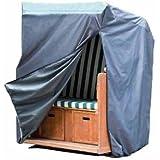 Wehncke 15182 DELUXE - Funda de protección, cubierta para sillones e mimbre para la paya con 2 cremalleras para abrir facialmente 130x100x170 cm