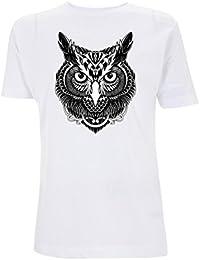 Generico T-Shirt Classica Stampata Gufo Maglietta di Cotone 100% con Stampa  Digitale Personalizzabile Owl Civetta Tattoo · EUR 13 6dcfea9dcad