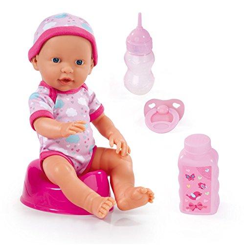 Bayer Design - Muñeca bebé, First Newborn, con función de beber y hacer pipí, color rosa (93023AA)