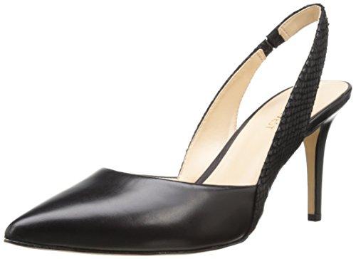 Nove in pelle occidentale Rollover pompa Dress Black/black