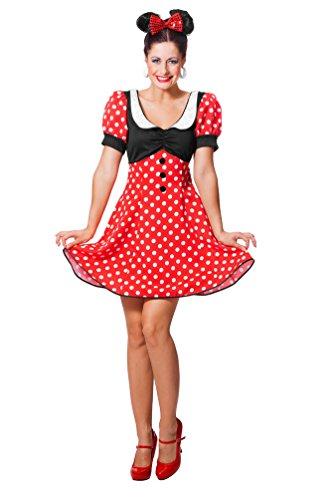 Karneval-Klamotten Minnie Mouse Kostüm Damen Minnie Maus-Kostüm Karneval Damen-Kostüm Größe 38 (Mouse-halloween-kostüme Minnie Erwachsene)