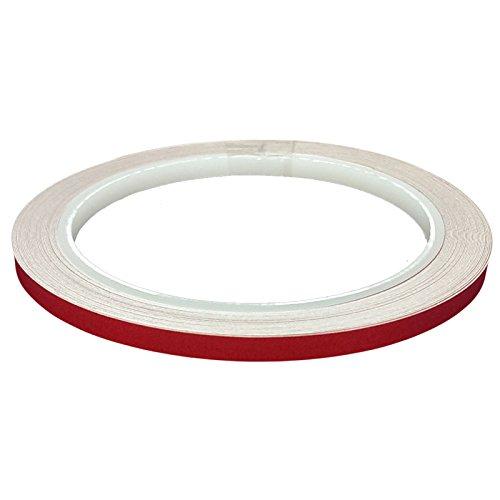 DonDo 3M 610C Klebeband, 5mm x 10m, rot, reflektierend, Reflexfolie mit Konturmarkierung -