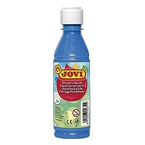 Jovi- Tempera liquida, Color Azul Cyan, 250 ml (50221)